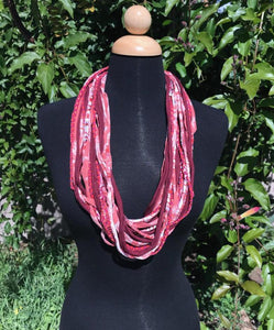 Shreds Scarf in Cranberry