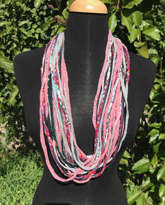 Shreds Scarf in Pink/Coral