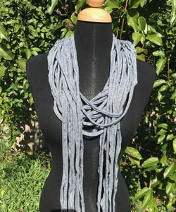 Shreds Scarf in Gray / Blue