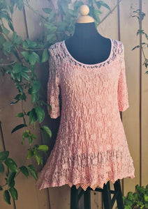 Think Spring Dress in Baby Pink