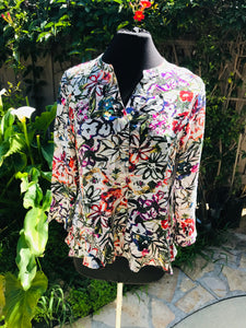 Habitat blouse-Painted Garden