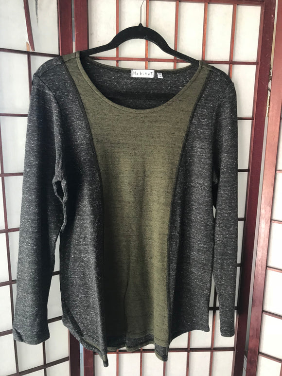 Modell Double Face Sweater in Moss