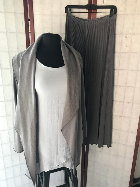 Heavenly Grey Shawl Jacket