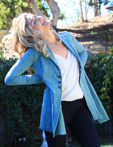 Reba Jacket in Powder Blue