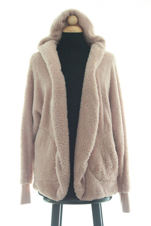 Perfectly Pink Fuzzy Faux Fur Jacket