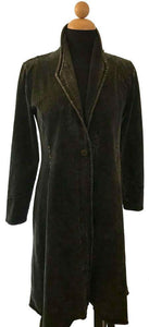 Smoking Jacket in Asphalt Black