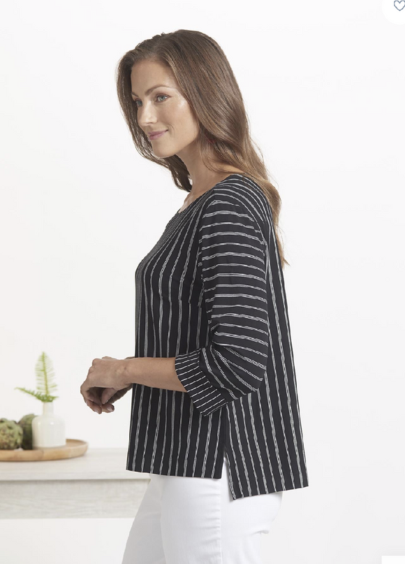 Summer Stripe Rayon Jersey Top