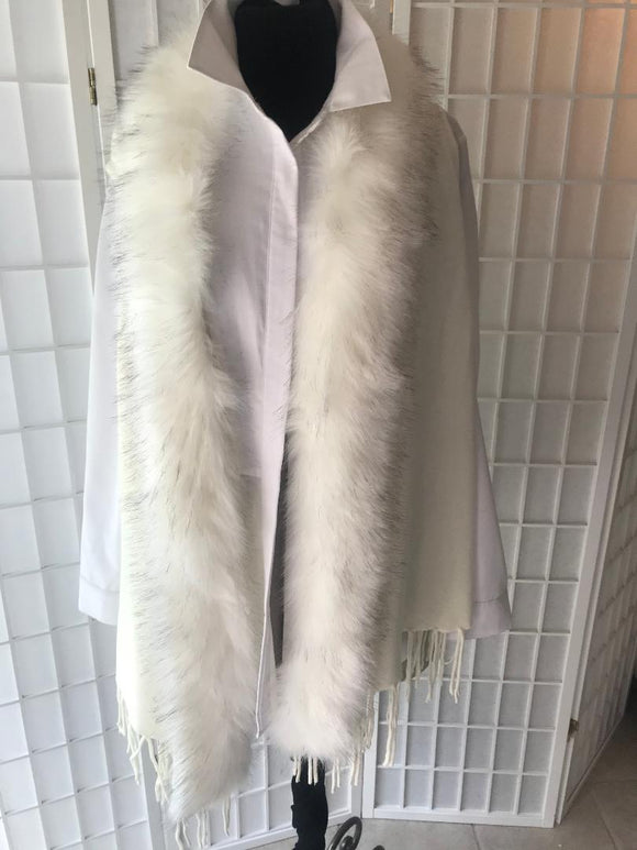 Origami Fur Vest in White or Black