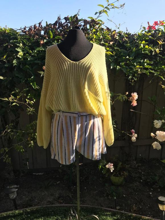 Yellow Summer Sweater