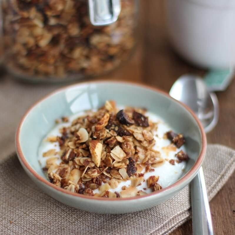 Chai Spiced Granola With Almonds & Coconut