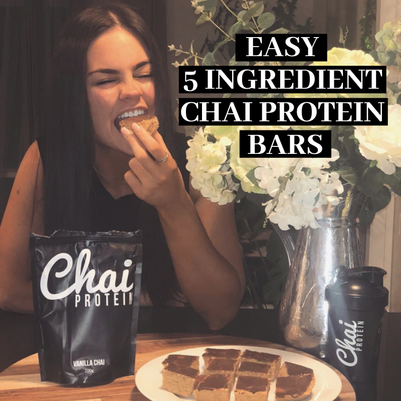 Easy 5 Ingredient Chai Protein Bars