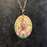 Flower Boutique with Ribbon Tin Necklace