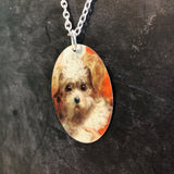 White Toy Poodle Necklace