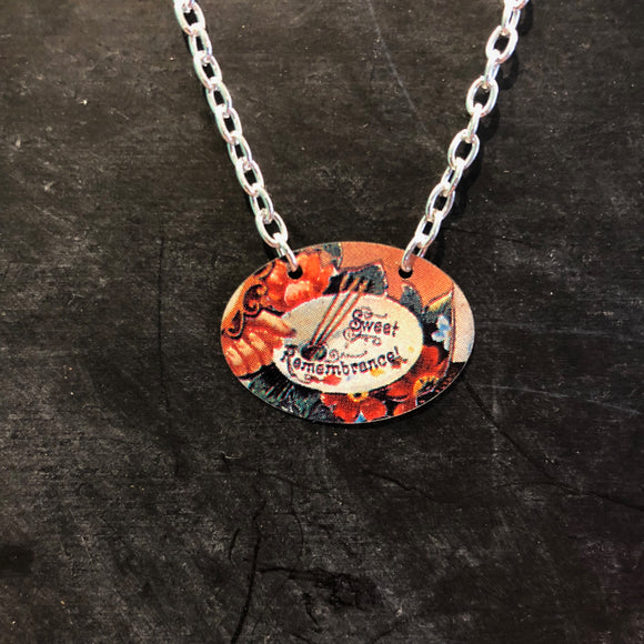 Sweet Remembrance Tin Necklace