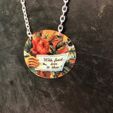 With Fond Love to Thee Tin Necklace