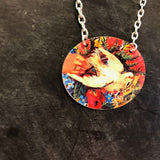 Valentine White Dove Tin Necklace