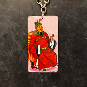Chinese Warrior King Tin Necklace