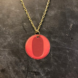 Red O Tin Necklace
