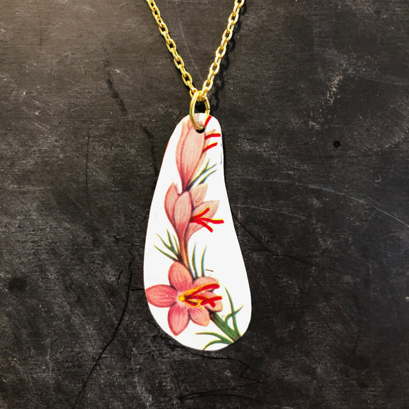 Spring Flower Tin Necklace