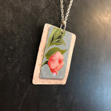 Layered Shabby Chic Floral Tin Necklace