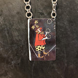 Juggling Clown Tin Necklace