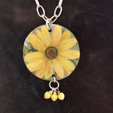 Yellow Daisy with Yellow Beads