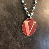 V Beaded Tin Necklace
