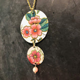 Pink Asiain Floral Tin Necklace