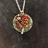 Green Double Layer Floral Tin Necklace