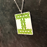 Cross Stitch I Tin Necklace