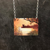Castle Skyline Tin Necklace