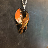 Two Finches Tin Necklace