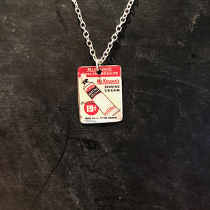 McKesson Shave Cream Tin Necklace