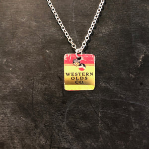 Western Olds Co Tin Necklace