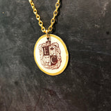 Shield E and C Tin Necklace