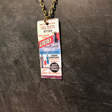 Halls Clothing Tin Necklace