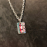 Singing Clowns Tin Necklace