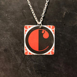 "Art Deco ""C"" Tin Necklace"