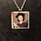 Cap and Gown Tin Necklace