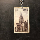 44 Eire Castle Stamp Tin Necklace