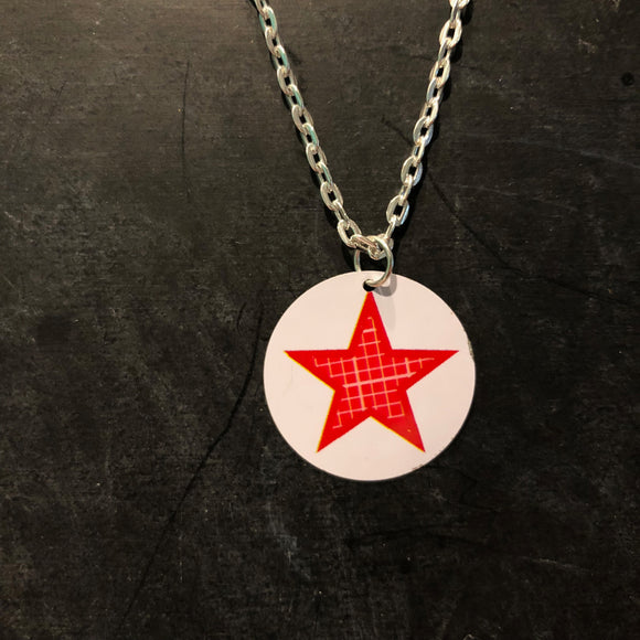 Star Circle Tin Necklace