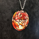 Large Rose Tin Necklace