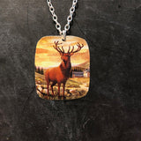 Stag Tin Necklace