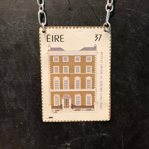 Eire Castle Stamp Tin Necklace