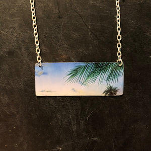 Ocean Sky Bar Tin Necklace