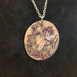 Floral Hippie Woman Tin Necklace