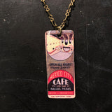 Mexico City Cafe Tin Necklace