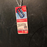 Select Razor Blades Tin Necklace