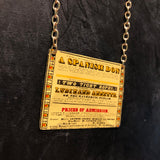 Spanish Don Circus Flyer Tin Necklace