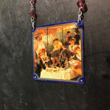 Second Luncheon Beaded Tin Necklace